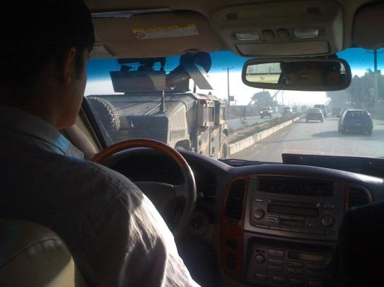 Driving in Kabul