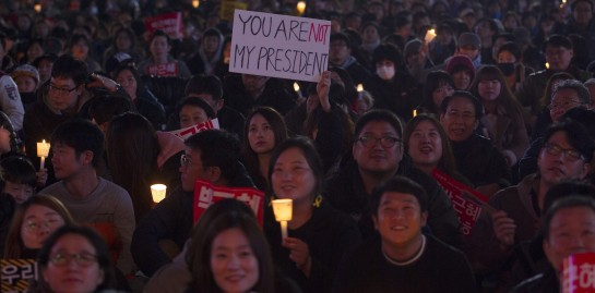 Protest against President Park Geun-hye in South Korea